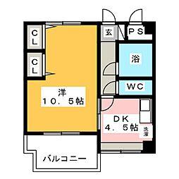 ハッピービル[2階]の間取り