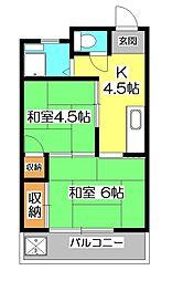 梅本ビル[3階]の間取り