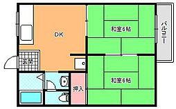 タウニーモリイ[2階]の間取り