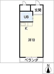 メゾン共栄[4階]の間取り