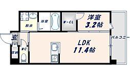 フェニックスクローブトモイ 7階1LDKの間取り