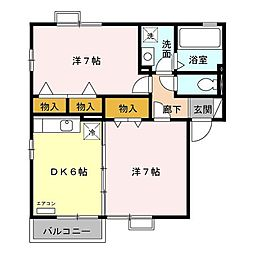 リビングタウンいせ B[1階]の間取り