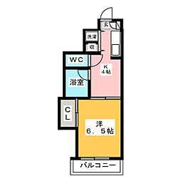 第7西田ビル[6階]の間取り