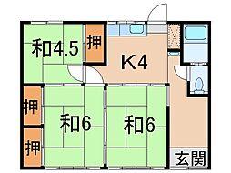 [一戸建] 福島県福島市宮代字日影 の賃貸【福島県 / 福島市】の間取り