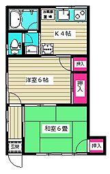 佐藤荘[102号室]の間取り