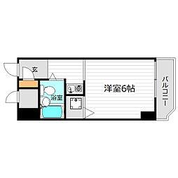 大阪府大阪市城東区蒲生1丁目の賃貸マンションの間取り