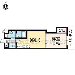 アドバンス京都西院パルティーレ403[4階]の間取り