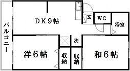 中村マンション[205号室]の間取り
