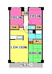 ライフプレイスシーマII[3階]の間取り