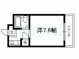 京都府京都市東山区今熊野南日吉町の賃貸マンションの間取り