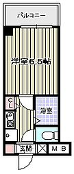 大阪府大阪市阿倍野区天王寺町南2の賃貸マンションの間取り