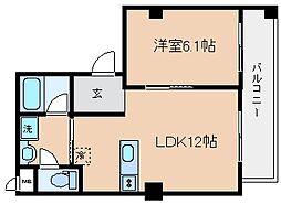 兵庫県神戸市長田区片山町5丁目の賃貸マンションの間取り