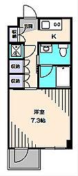 埼玉県新座市栗原6丁目の賃貸マンションの間取り