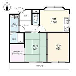 PLECO MIMASAKAI[305号室]の間取り