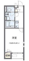 小田急小田原線 本厚木駅 バス25分 依知小学校前下車 徒歩7分の賃貸アパート 2階1Kの間取り