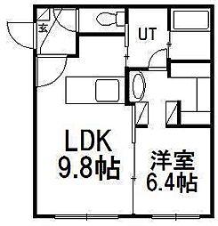 北海道札幌市中央区南五条西27丁目の賃貸マンションの間取り