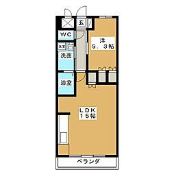 ヴェルメゾン[6階]の間取り