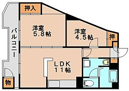 サンライズマンション春日原[2階]の間取り
