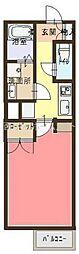 ウィズローズアカシ[2階]の間取り