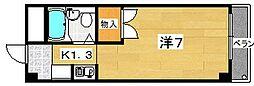 セジュール長尾[4階]の間取り