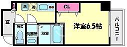 アキソレイユ本田 11階1Kの間取り