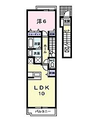 レジデンスTI B[202 号室号室]の間取り