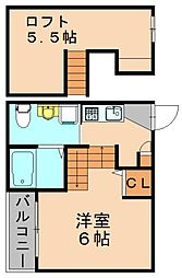 オークフォレスト[2階]の間取り