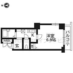 プレサンス京都二条城前104[1階]の間取り
