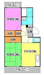 クレール18[2階]の間取り