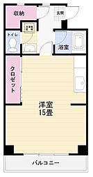 神奈川県横須賀市三春町5丁目の賃貸マンションの間取り