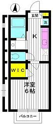 東京都練馬区春日町2丁目の賃貸アパートの間取り
