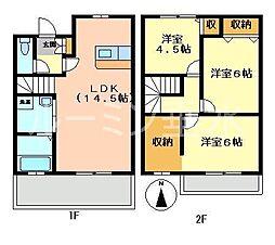 [テラスハウス] 兵庫県加東市南山4丁目 の賃貸【/】の間取り