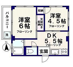 渡部ハイツ[6階]の間取り