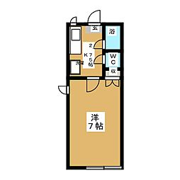 ヴェルドミールA[2階]の間取り