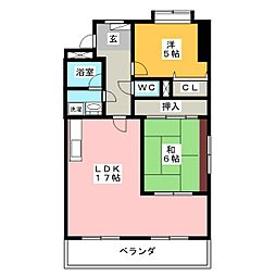 シャトレ大堀[2階]の間取り