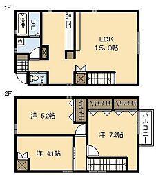 [一戸建] 宮崎県宮崎市吉村町図公甲 の賃貸【/】の間取り