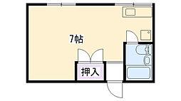 カッシーナ甲子園[105号室]の間取り