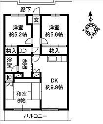 グリーンハイム土屋[3階]の間取り