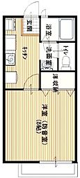 サンビレッジ武蔵野[1階]の間取り