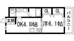 栄根コーポラス[3階]の間取り