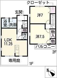 [タウンハウス] 愛知県安城市里町2丁目 の賃貸【/】の間取り