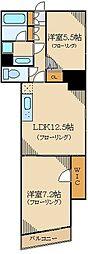グランハイツ高田馬場 10階2LDKの間取り