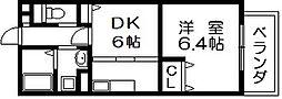 メゾン高野 川田3 吉田16分[2階]の間取り