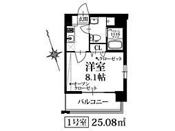 PondMumSUMIYOSHI(ポンドマム住吉)[6階]の間取り