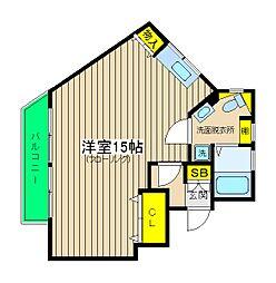 神奈川県横浜市神奈川区片倉5丁目の賃貸マンションの間取り