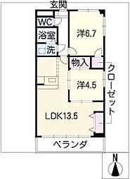 グランドステージ桜ヶ丘[1階]の間取り