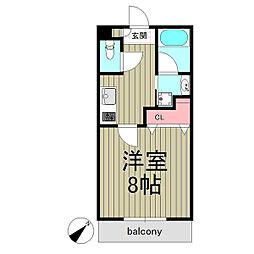 Maison Grandiose 5階1Kの間取り
