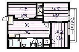 法善寺グリーンハイム[2階]の間取り