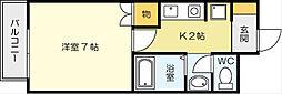 Kビル(昭和町)[2階]の間取り