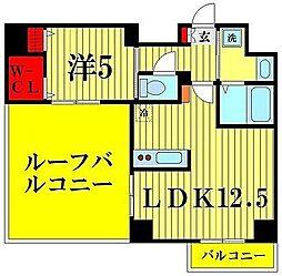 東京都墨田区八広1丁目の賃貸マンションの間取り